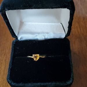 Citrine 10kt Gold Heart ring